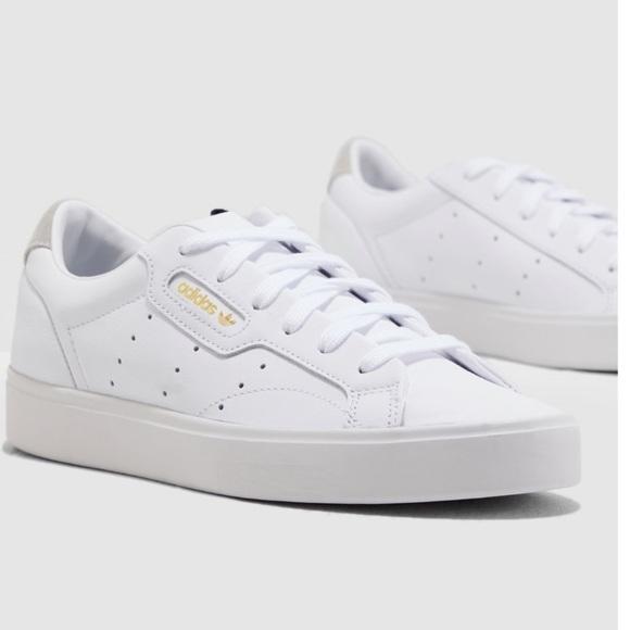 85eaf35e8 adidas Shoes | Sleek Leather Sneaker Size 85 | Poshmark